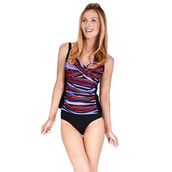 20d8595749 Shop Ruched Twist Front Women s Tankini Top by Mazu Swim - On Sale ...