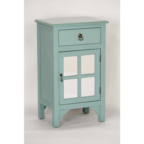 Blue Wood Single-drawer Cabinet
