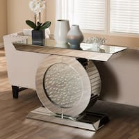 Glam Mirrored Console Table by Baxton Studio