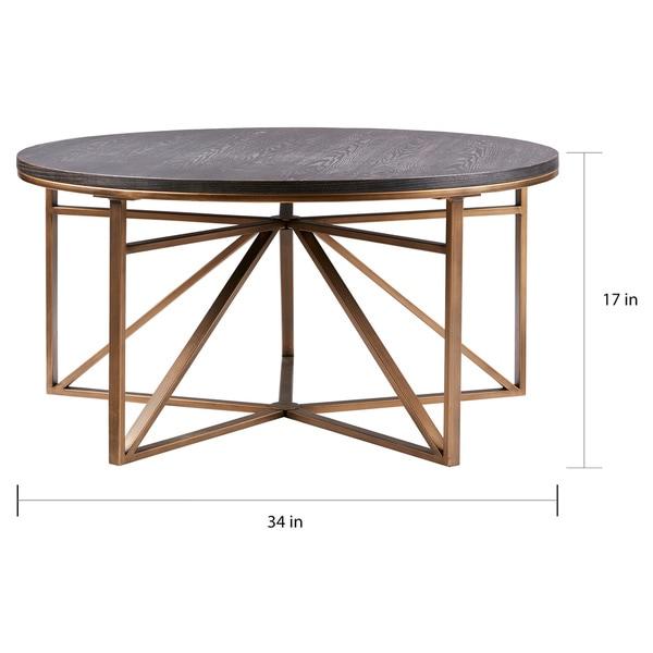 Madison Park Kayden Antique Bronze Coffee Table