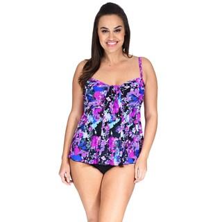 Drape Bandeau Plus Size Women's Tankini Top by Mazu Swim