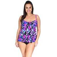 Drape Bandeau Plus Size Women's Tankini Top by Mazu Swim