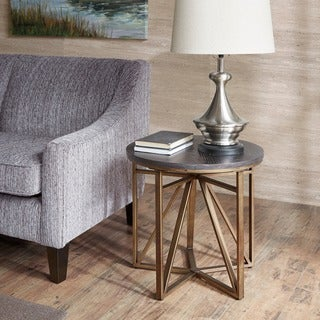 Madison Park Kayden Antique Bronze End Table - Free Shipping Today ...