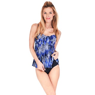 Drape Bandeau Women's Tankini Top by Mazu Swim