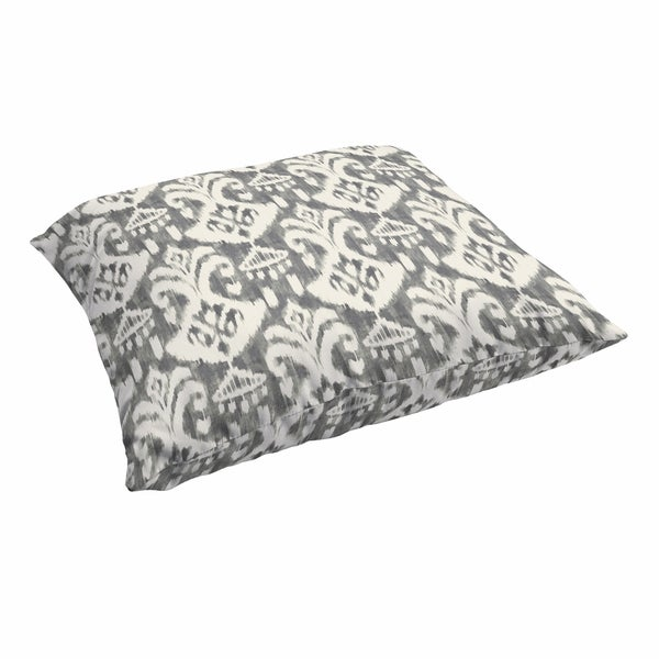 Rainford Grey Cream Indoor Outdoor 26 Inch Floor Knife Edge Pillow On Free Shipping Today 14724963