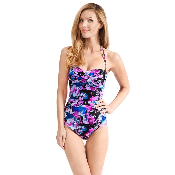9279782f5df8a Shop Twist Front Women's Strapless One Piece Maillot by Mazu Swim ...