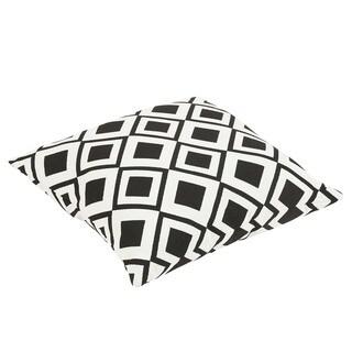 Bilson Sunbrella Savvy Onyx Indoor/ Outdoor 26 Inch Floor Knife Edge Pillow