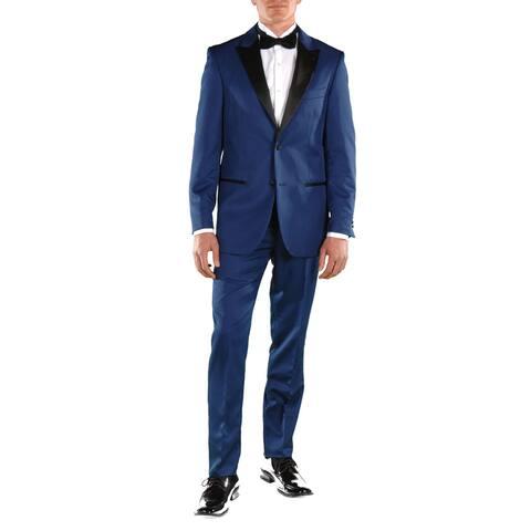 Ferrecci Men's Crisp Slim Fit Peak Lapel 2-piece Tuxedo