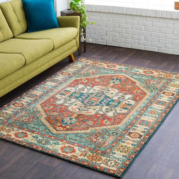 Kara Tribal Orange Area Rug - 9'3 x 12'6