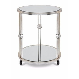 Crestly Mirror End Table on Wheels