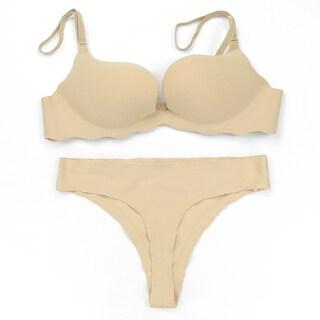 Donna di Capri Women's Seamless Microfiber Convertible U-plunge Bra and Thong Set (Option: 34c)