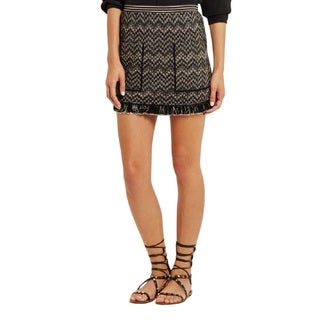 Missoni Black Chevron Mini Skirt