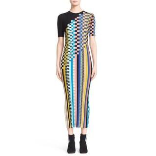Missoni Check Striped Wool Knit Dress