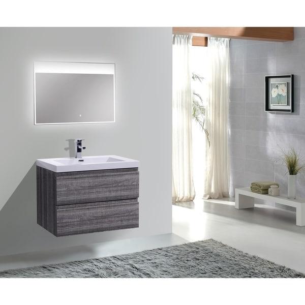 Shop Moreno Bath Mob 30 Inch Wall Mounted Modern Bathroom