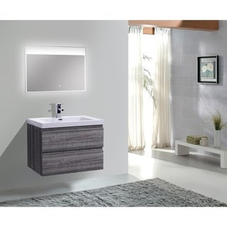 Moreno MOB 30-inch Wall Mounted Modern Bathroom Vanity With Reinforced Acrylic Sink (More options available)