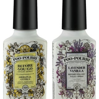 Poo-Pourri Original Citrus & Lavender Vanilla 4-ounce Before-You-Go Toilet Spray Set