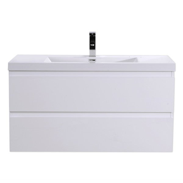Moreno Mob 42 Inch Wall Mounted Modern Bathroom Vanity With Reinforced Acrylic Sink Free