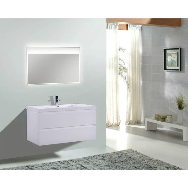 moreno mob 42inch wall mounted modern bathroom vanity with reinforced acrylic sink
