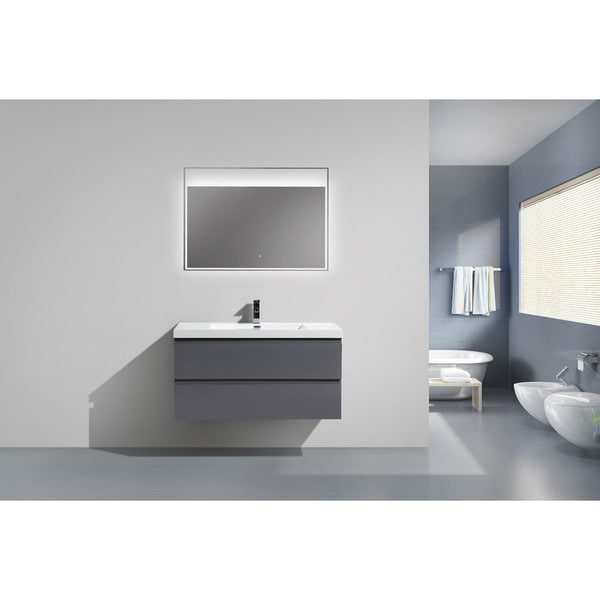 moreno mob 42inch wall mounted modern bathroom vanity with reinforced acrylic sink free shipping today