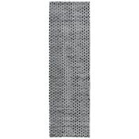 Hand-woven Ellington White Jute/ Wool Pattern Runner Rug (2'6 x 8')