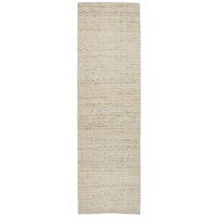 Hand-woven Ellington Natural Jute/ Wool Pattern Runner Rug (2'6 x 8')