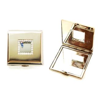 Rucci Square with Crystals Compact Mirror