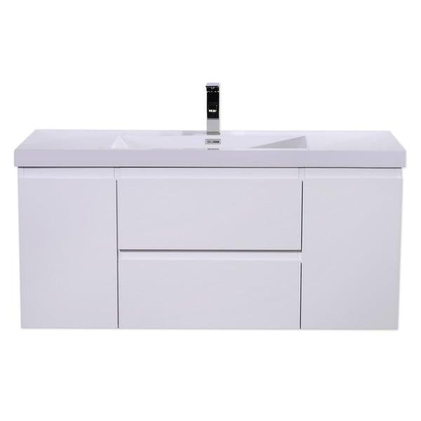 Moreno MOB 48-inch Wall Mounted Modern Bathroom Vanity With Reinforced Acrylic Sink