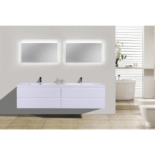 Wall Mounted Double Sink Bathroom Vanity Morenobath Mob 72 In Tools Home Improvement Kitchen Bath Fixtures Fcteutonia05 De