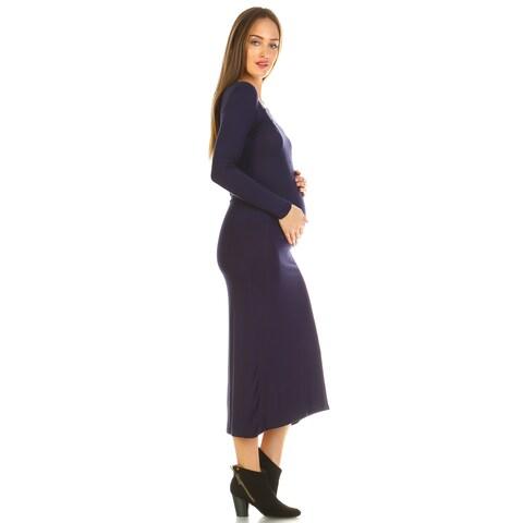 White Mark Penelope Maternity Maxi Dress