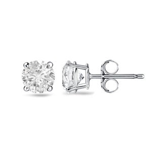 Auriya 18k Gold 1/2ct TDW 4-Prong Push-Back Clarity-Enhanced Diamond Stud Earrings (H-I, I2-I3)