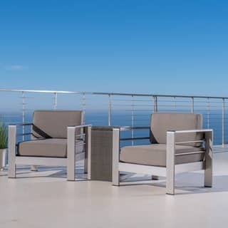 Cape Coral Outdoor 3-piece Aluminum Seating Set with Cushions by Christopher Knight Home|https://ak1.ostkcdn.com/images/products/14725400/P21254002.jpg?impolicy=medium