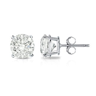Auriya 14k Gold 1 1/4ct TDW Clarity-Enhanced Diamond Solitaire Stud Earrings