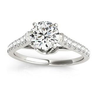 Transcendent Brilliance 14k White Gold 3/4ct TDW Diamond Graduate Style Engagement Ring (G-H, VS1-VS2)