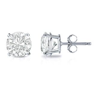 14k Gold 1ct TW Clarity Enhanced Round Diamond Stud Earrings