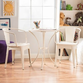 Maxine Children's 3-piece Shabby Chic Bistro Set by Christopher Knight Home