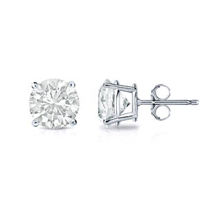 Auriya 14k Gold 1/2ct TDW 4-Prong Push-Back Clarity-Enhanced Diamond Stud Earrings (J-K, VS1-VS2)