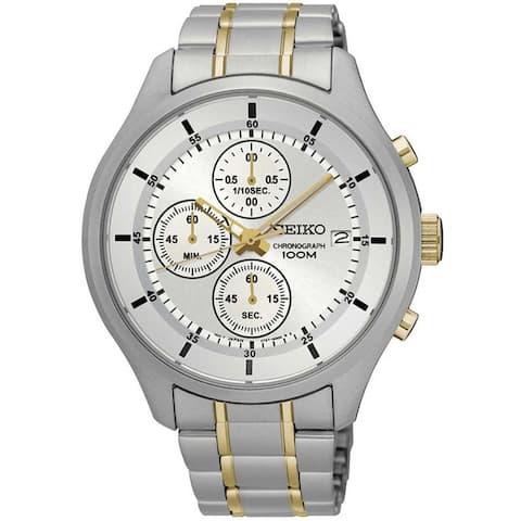 Seiko Men's SKS541P1 Chronograph Two-Tone Stainless Steel Watch