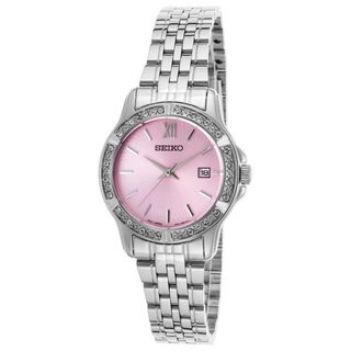 Seiko Women's SUR739P1 Crystal Stainless Steel Watch