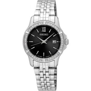 Seiko Women's SUR733P1 Crystal Stainless Steel Watch