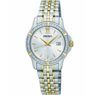 Seiko Women's SUR732P1 Crystal Two-Tone Stainless Steel Watch