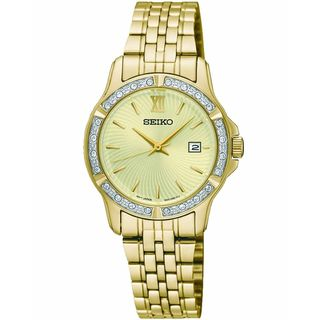 Seiko Women's SUR728P1 Crystal Gold-Tone Stainless Steel Watch