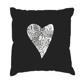LA Pop Art 17 Inch Throw Pillow Cover - Lots of Love