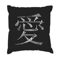 LA Pop Art The Word Love in 44 Languages Cotton 17-inch Throw Pillow Cover