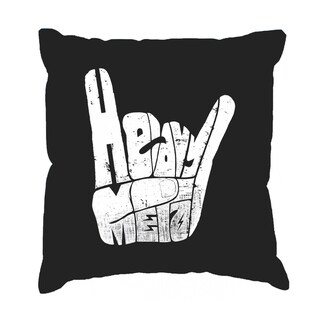 LA Pop Art Heavy Metal 17-inch Throw Pillow Cover