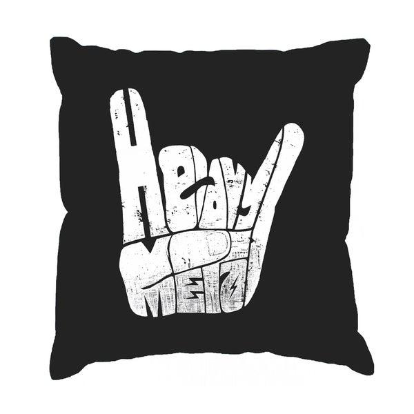 LA Pop Art Heavy Metal 17-inch Throw Pillow Cover