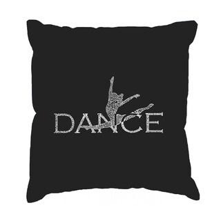 LA Pop Art 'Dancer' Black Cotton 17-inch Throw Pillow Cover