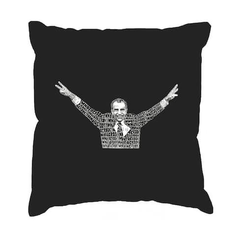 LA Pop Art I'm Not a Crook Black Cotton 17-inch Throw Pillow Cover