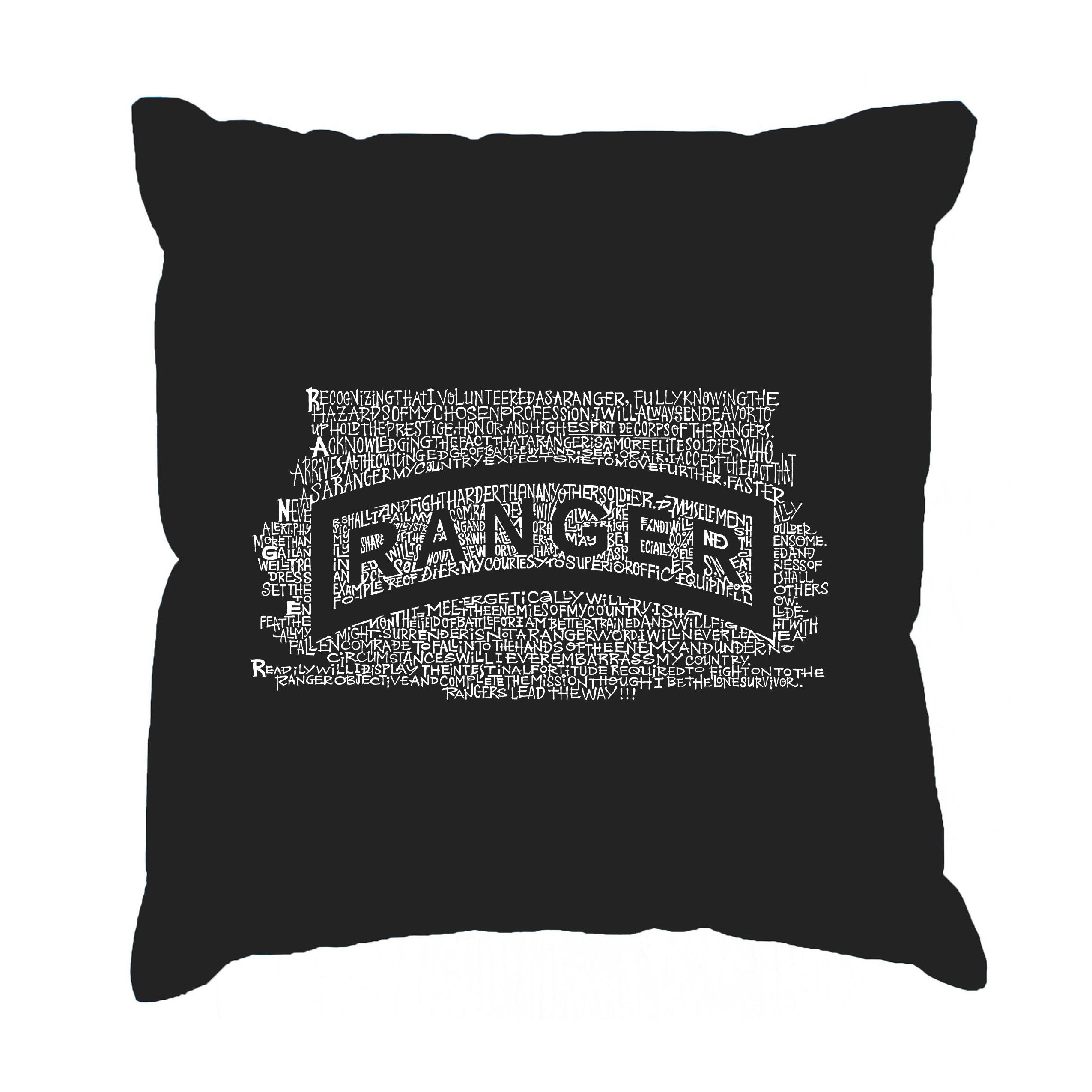Los Angeles Pop Art LA Pop Art 'The US Ranger Creed' Blac...