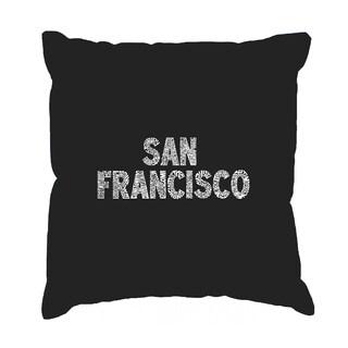 LA Pop Art San Francisco Neighborhoods 17-inch Throw Pillow Cover