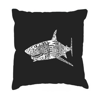 LA Pop Art Species of Shark 17-inch Throw Pillow Cover